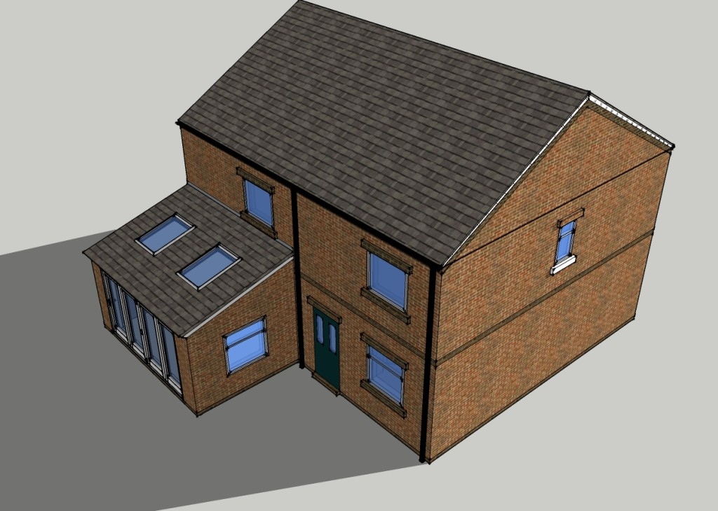 Extension with excess glazing
